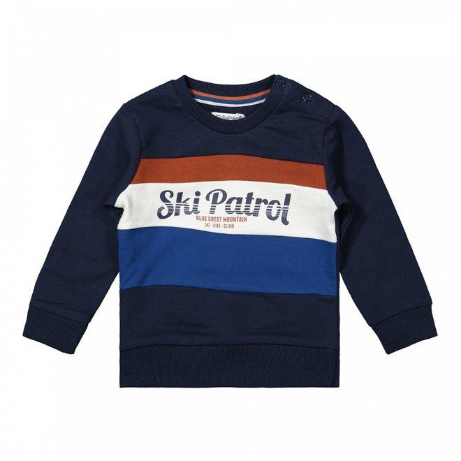 Dirkje Jungen Pullover dunkelblau Ski Patrol