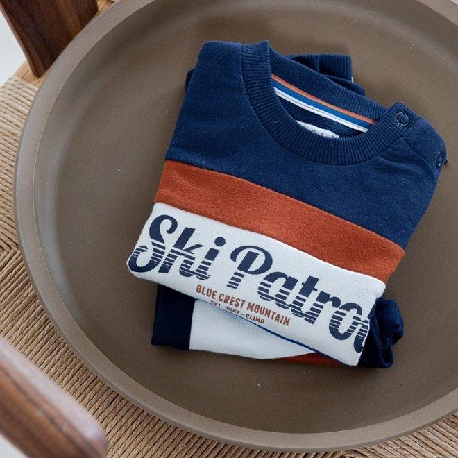 Dirkje jongens trui donkerblauw ski patrol