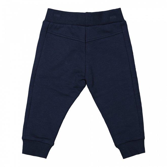 Dirkje jongens joggingbroek donkerblauw met vlakverdeling