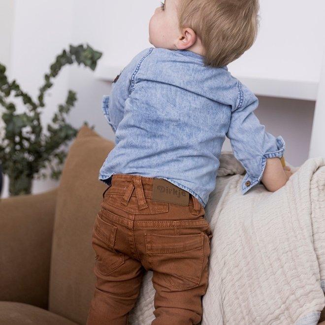 Dirkje jongens jeans roest bruin