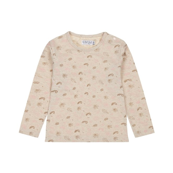 Dirkje meisjes shirt beige met print