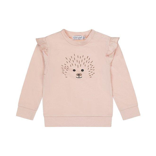 Dirkje Mädchen Pullover alt rosa Igel