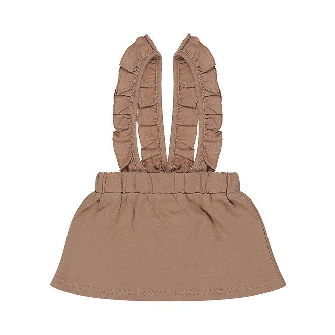 Dirkje meisjes rok bruin met bretels - salopette