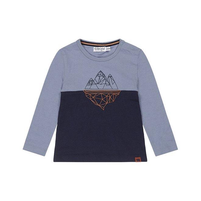 Dirkje jongens shirt blauw berg