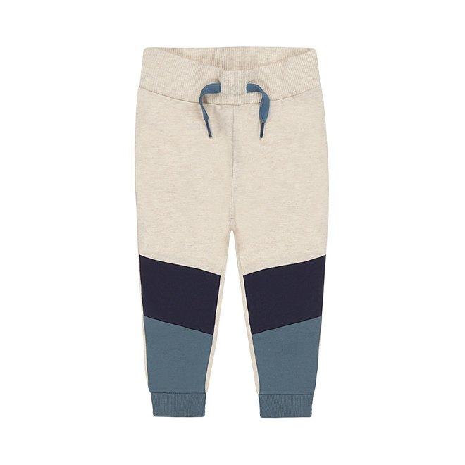 Dirkje jongens joggingbroek beige blauw