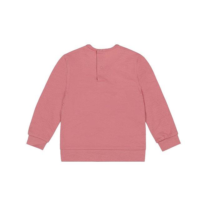 Dirkje Mädchen Pullover alt rosa Rüsche