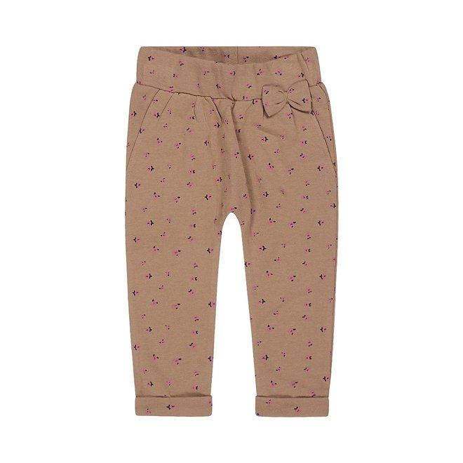 Dirkje meisjes broek met strikje bruin