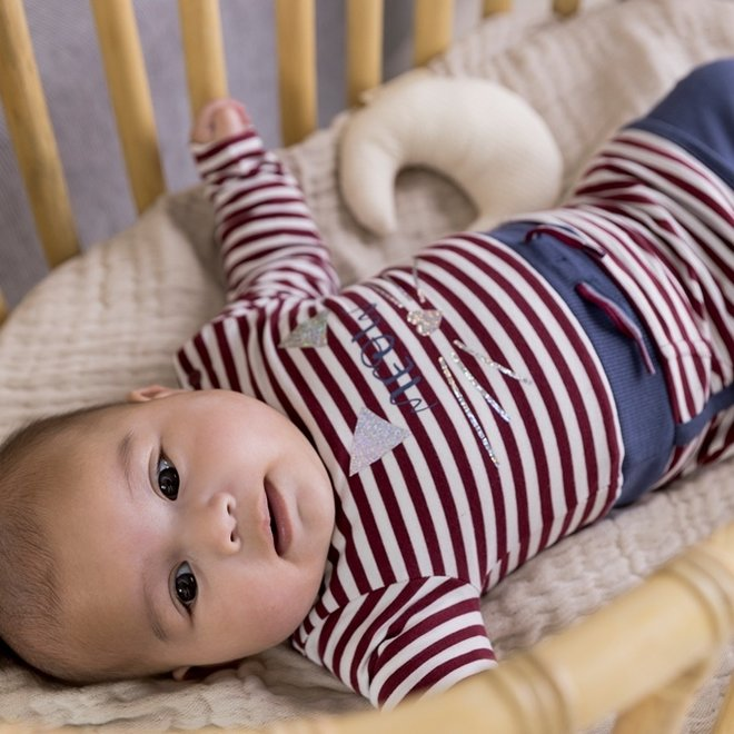 Dirkje meisjes babyset jurk met legging bordeaux