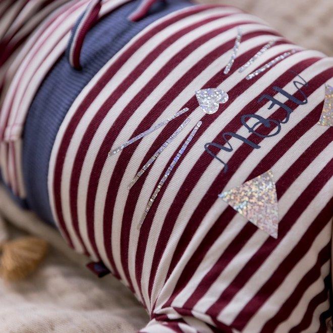 Dirkje Mädchen Babyset Kleid mit Leggings bordeaux