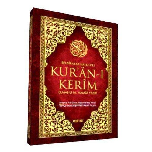5'li Kur'an-ı Kerim Rahle Boy