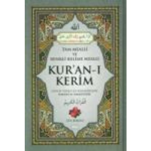Gül Kokulu Renkli Kelime Mealli Kur'an-i Kerim Rahle Boy