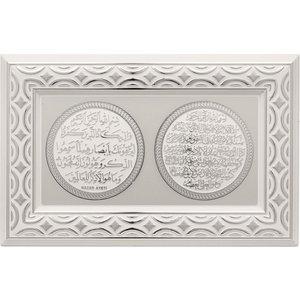 Nazar & Ayat Al Kursi Lijst Zilver met Wit