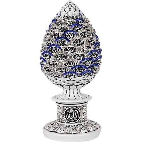 Esma ul Husna Decoratie Wit Blauw