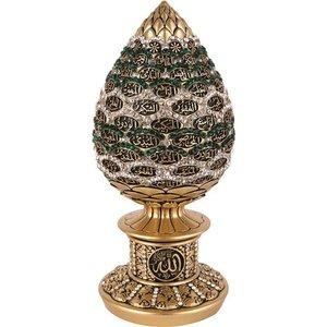 Esma ul Husna Decoratie Goud met Groen