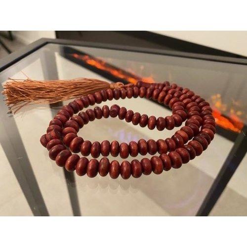 Houten Tasbeeh - Vuurrood