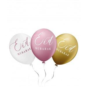 Eid Mubarak Ballonnen Oud Roze