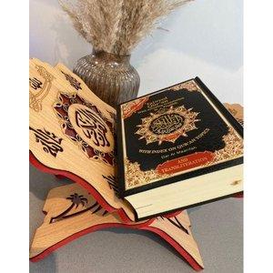 Koranhouder Hout rood XL