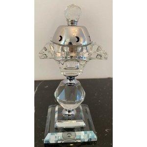 Amir's Deco Bakhoor Houder Kristal Zilver
