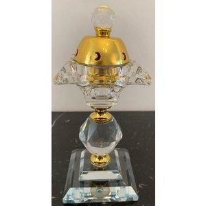 Amir's Deco Bakhoor Houder Kristal Goud