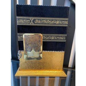 Ayfa Yayinlari Gold Kabe Koran holder with Koran