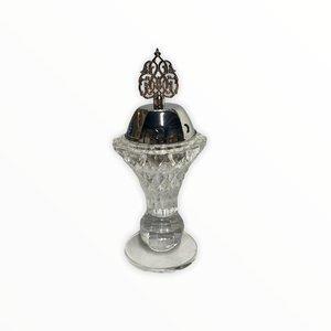 Bakhour Houder Kristal Kroon Zilver