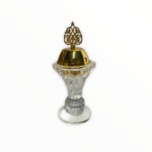 Bakhour Houder Kristal Kroon Goud