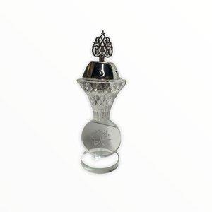 Bakhour Houder Kristal Mohammed Zilver