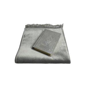 Prayer Velvet Dress with Silver leather Koran