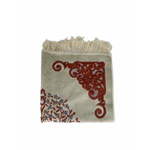 Velvet prayer rug with glitter - Orange