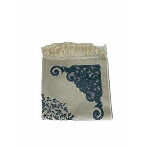 Velvet prayer rug with glitter - Gray
