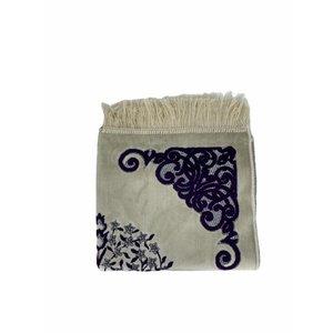 Velvet prayer rug with glitter - purple