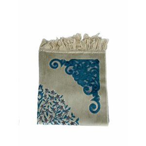 Velvet prayer rug with glitter - Blue