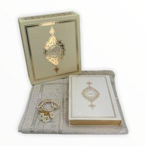 Koran Set met Gebedskleed Tasbeeh en Kuran Goud