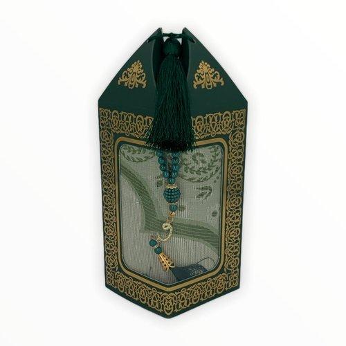 Gebedskleed met Tasbeeh Buhara Groen
