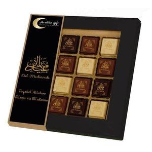 Arabic Gift Eid Mubarak Pralines chocola Large