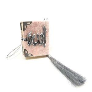 Fluwelen Koran voor auto Roze Zilver