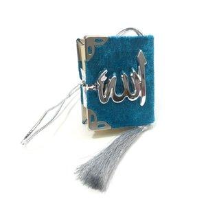 Fluwelen Koran voor auto Ocean Blauw Zilver