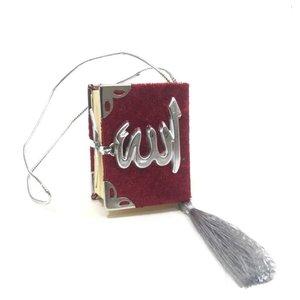 Fluwelen Koran voor auto Rood Zilver