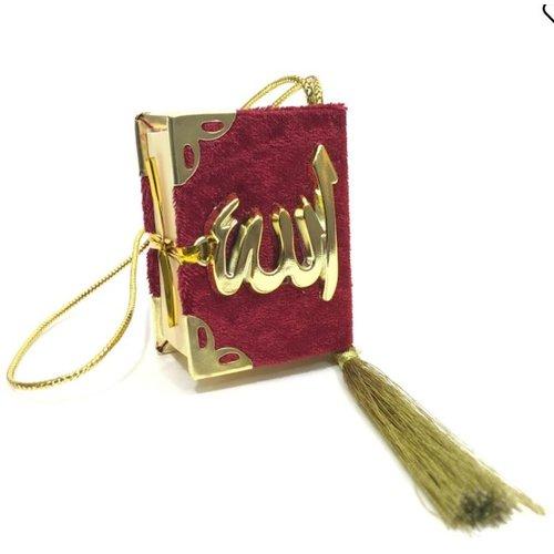 Fluwelen Koran voor auto Rood Goud