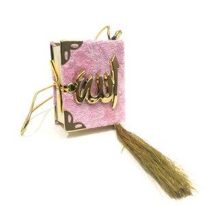 Fluwelen Koran voor auto Roze Goud
