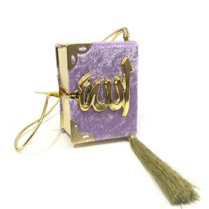 Fluwelen Koran voor auto Lila Goud