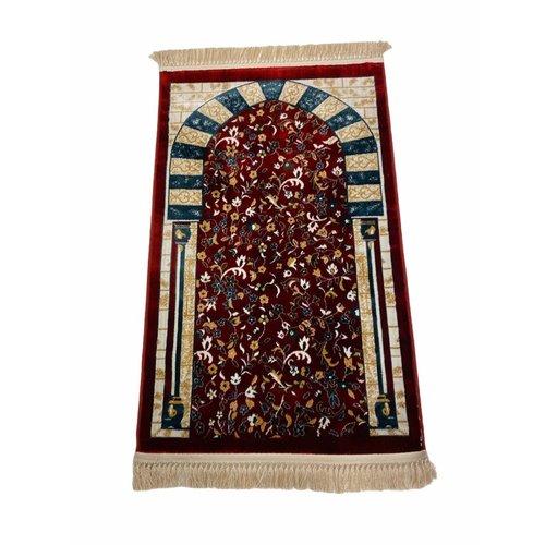 Tapijt Gebedskleed Rood Pilaar