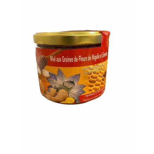 Honing met Nigella en Gember- Blackseed -Zwarte Komijn