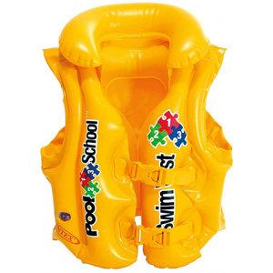 Intex Intex opblaasbaar luxe zwemvest junior geel 3-6 Jaar