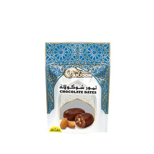 Arjoon Dates Chocolade Dadels  met Amandel Smaak