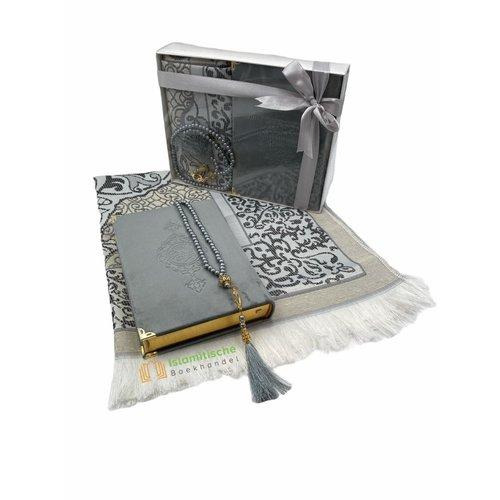 Fluwelen Koran Cadeau Set Zilver