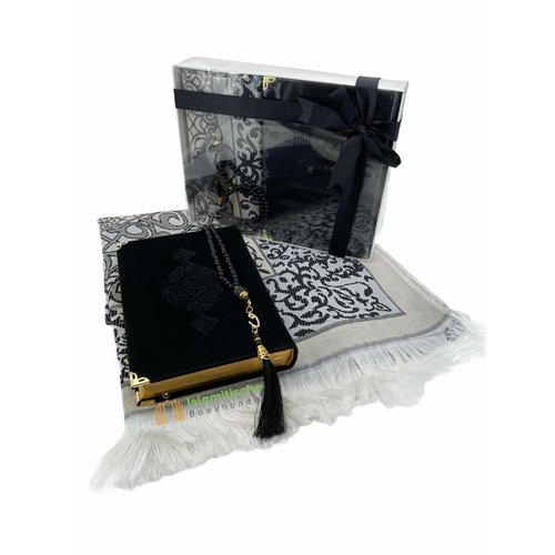 Fluwelen Koran Cadeau Set Zwart