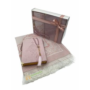 Fluwelen Koran Cadeau Set Roze