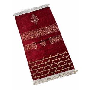 Premium Kaba Gebedskleed Rood