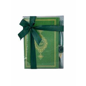 Thermo leren Koran met Tasbeeh Groen Small